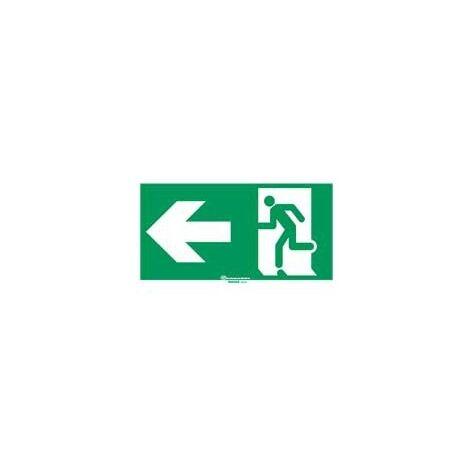 Legrand 061001 Etiquette signalisation réglementaire pour baes - sortie de secours porte à gche