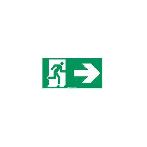 Legrand 061002 Etiquette signalisation réglementaire pour baes - sortie de secours porte à dte