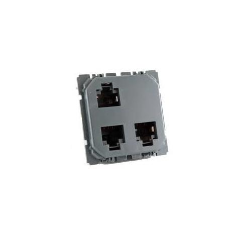 Legrand 067390 - Prise triple RJ45 STP multimédia Céliane - pour réseau Optimum