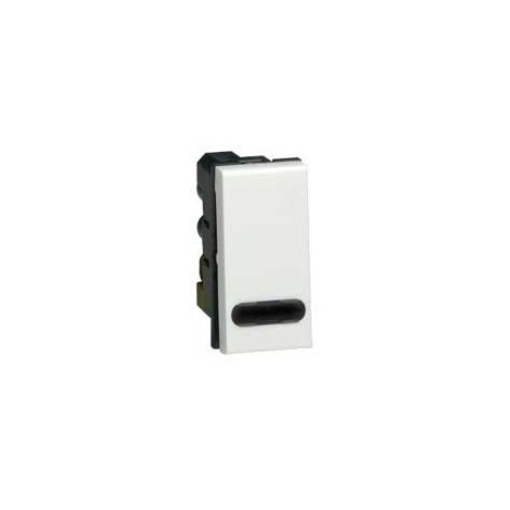 Legrand 074032 - Mosaic poussoir inverseur à voyant - 6 A - 250 V - connexion à vis - 1 module