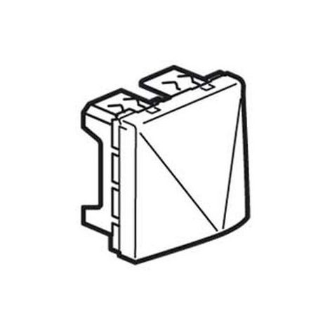 Legrand 077550 - cable outlet Mosaic - with cable clamps - 20 A - 2 mod - white
