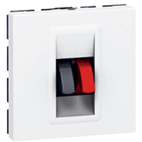 Legrand 078751 - Prise haut-parleur Prog Mosaic - 2 mod - blanc