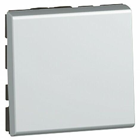 Legrand 079211 Interrupteur va-et-vient 10ax 250V Mosaic - alu 2mod.