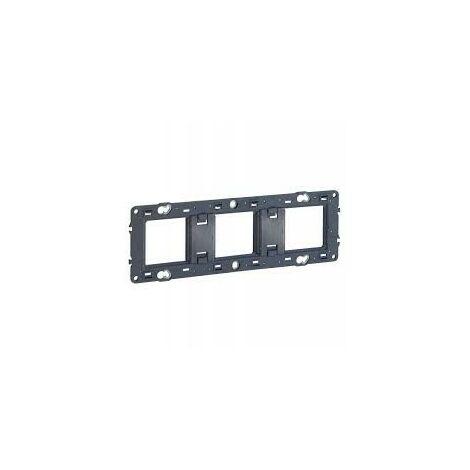 Legrand 080253 - Support pour fixation à vis Batibox - montage horiz/vert - 3 postes 6/8 mod
