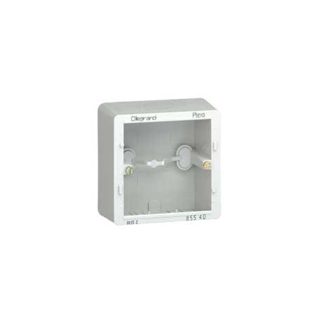 Legrand 085540 - Sagane - Cadre saillie Plexo 1 poste 82x82x40mm - Gris