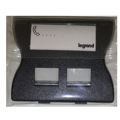 Legrand 085984 Enjoliveur Sagane Graphimat prise double RJ45