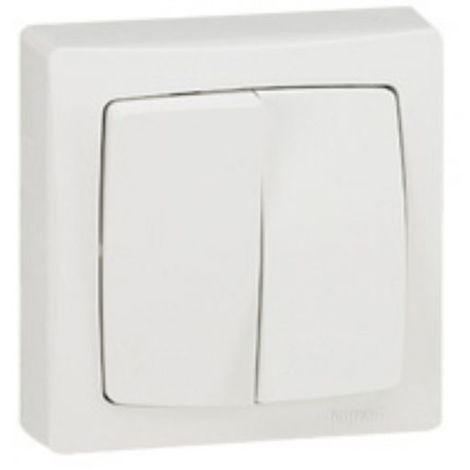 Legrand 086007 back and forth 10AX + Push switch 6A 250V surface-mounted - white