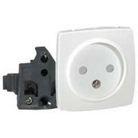 Legrand 086122 2P socket with eclips of protection device projection - white