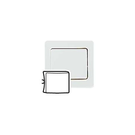 Legrand 086500 Enjoliveur ,poussoir, permutateur, obturateur - Sagane Plexo - VV- blanc