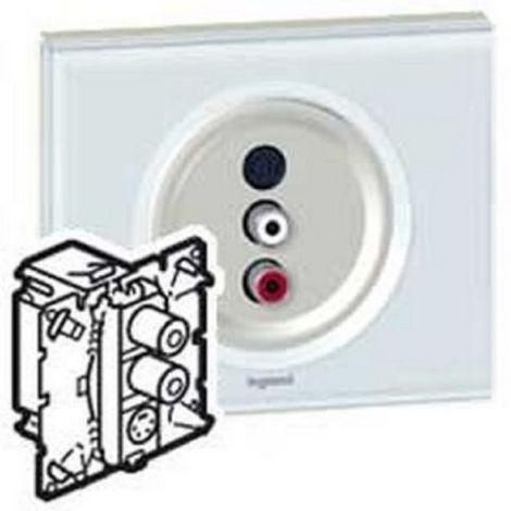 Legrand 67314 Triple Sockets audio/video 2 RCA et 1 S-video C