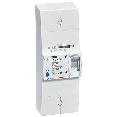 LEGRAND - Disjoncteur de branchement ERDF - BACO - diff 500 mA - sélectif - 2P - 60 A - 401004