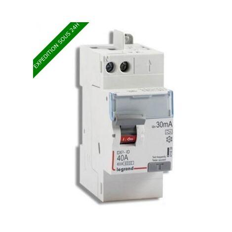 "main image of ""LEGRAND DX3 Interrupteur différentiel 40A 30mA type A auto 230V - 411638"""