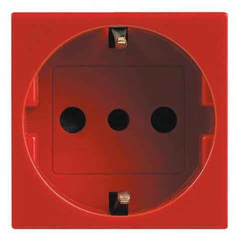 Legrand Vela rouge 10/16A prise schuko à deux voies 2 modules 682875