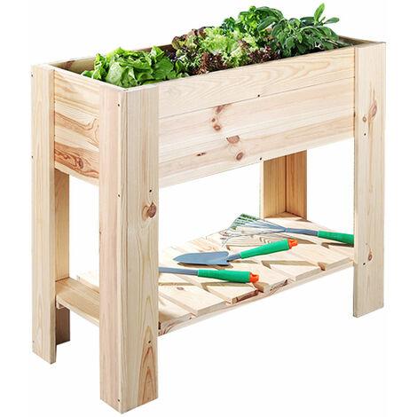 Légumes de lit haut de gamme de plantes de stockage Patios de jardin à l'extérieur de la boîte de fleurs seaux de pins bois doublure feuille