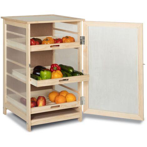 """main image of """"Légumier fruitier en bois VEGGE avec 3 tiroirs amovibles"""""""