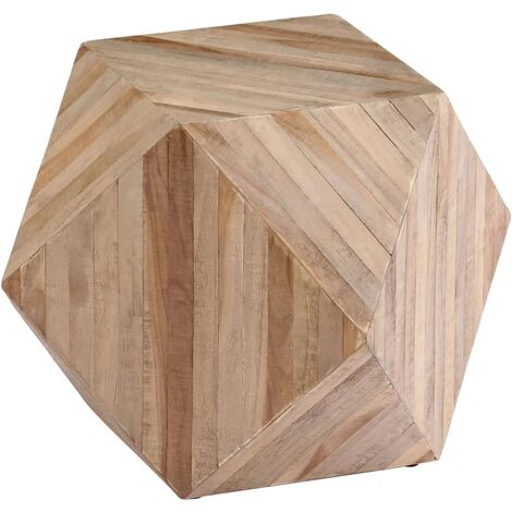 """main image of """"Leia Reclaimed Teak Side Table by Union Rustic - Brown"""""""