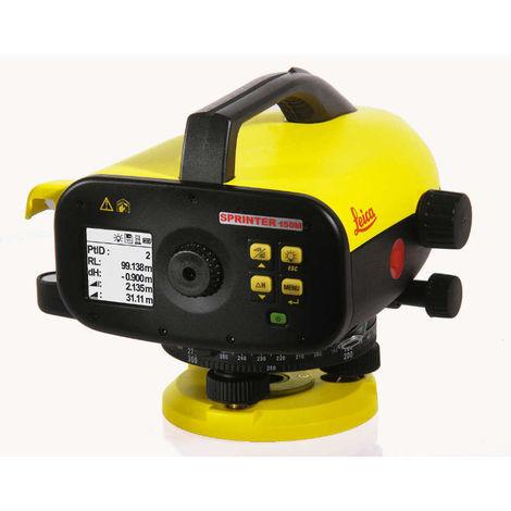 LEICA 762631 - Nivel óptico-electrónico automático SPRINTER 24 aumentos con registro de hasta 1000 mediciones (precisión de medición óptica de 1.0/0.7mm)