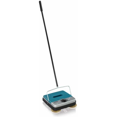 Leifheit Carpet Sweeper Rotaro S Turquoise and Silver 11402