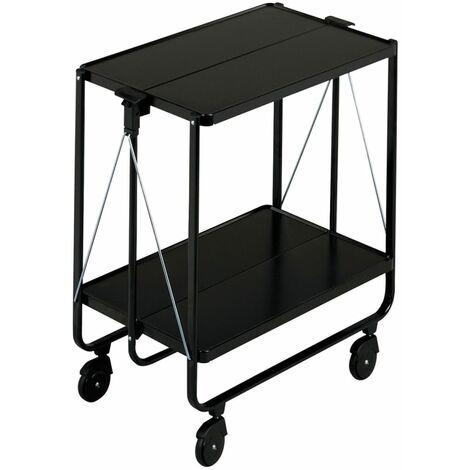 Leifheit Folding Kitchen Trolley Black 74237 - Black