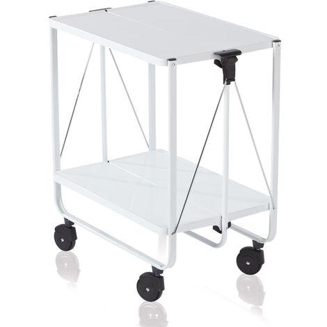 Leifheit Folding Kitchen Trolley White 74236 - White