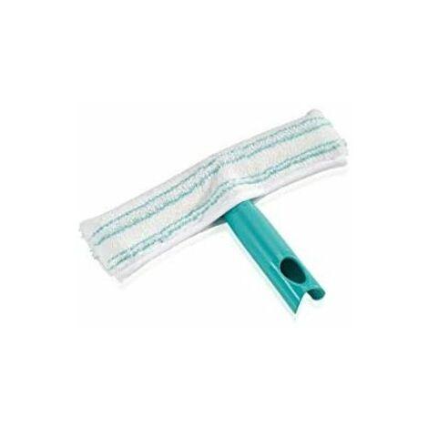 Leifheit Lave-vitres, nettoie les vitres, les cadres et les coins, nettoie-vitres absorbant avec housse de lavage à deux fibres, 26 cm.