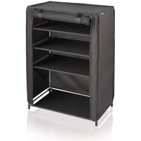 Leifheit Mueble zapatero 60x35x81,5 cm negro 80005