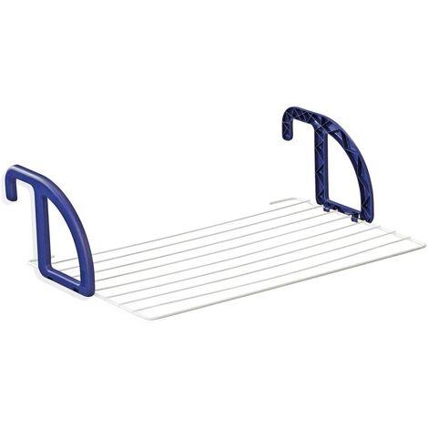 Leifheit Séchoir à linge suspendu pour balcon Classic 70 - longueur de séchage 7 m - bleu/blanc