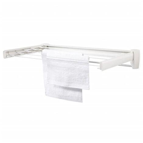 Leifheit Tendedero de pared Telegant Plus 70 blanco 83201