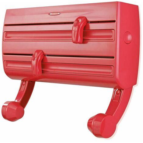 Leifheit Wandrollenhalter Parat F2 mit Abrollbremse, Küchenrollenhalter, Rollenhalter, Rot, 25776