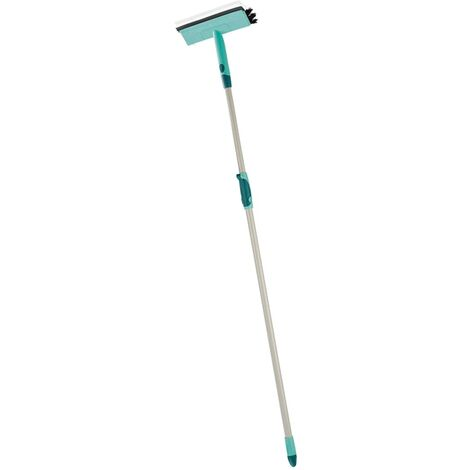 Leifheit Window Cleaning Brush with Telescopic Handle 28 cm 51104 - Green