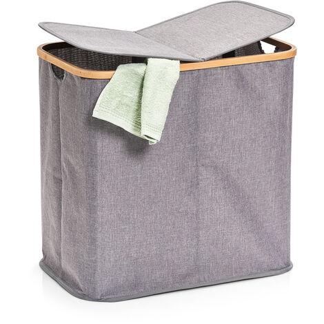 Leinwandwäschekorb, großer Wäschebehälter, funktionelle Kleiderbox