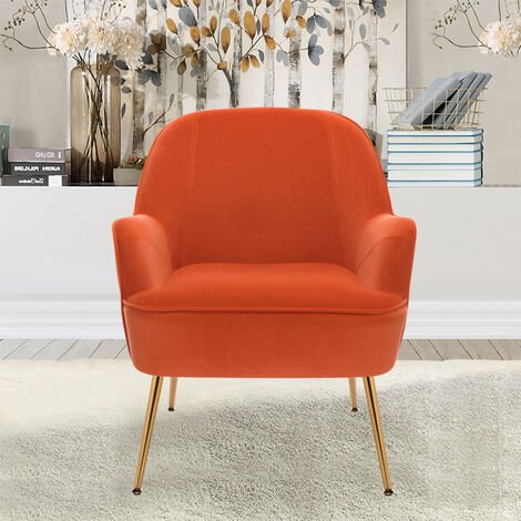 Leisure Velvet Wingback Accent Armchair