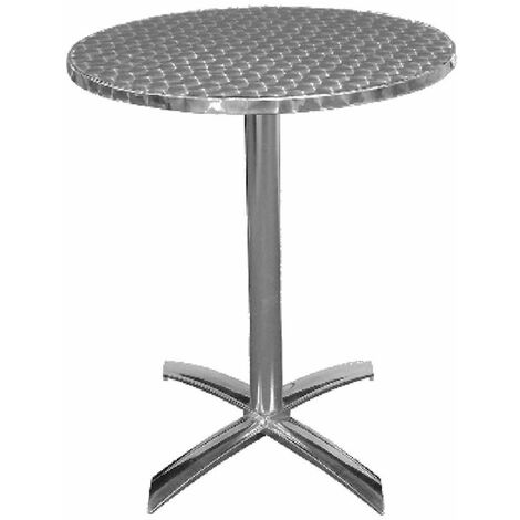 Leit61 Round Bistro Table Indoor Outdoor Aluminium Flip Top Folding Table