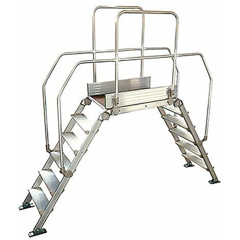 Leiternüberstieg - Treppennneigung 60°- Plattform 90x53cm (in verschiedenen Größen erhältlich)