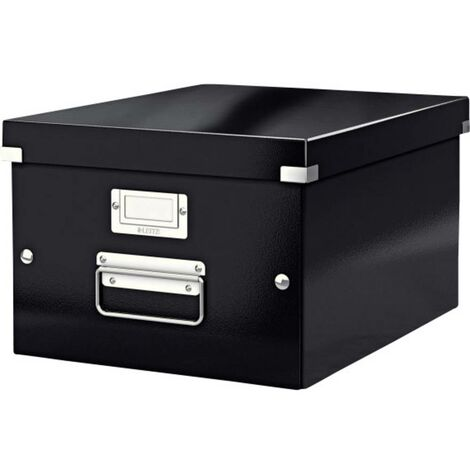 Leitz Click & Store Storage e Transport Box scatola di trasporto e stioccaggio media (per A4), nera