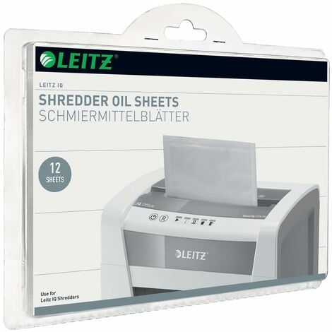 Leitz Hojas lubricantes para trituradora de papel Leitz IQ 12 unidades