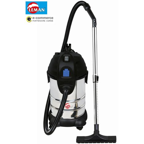 Leman - Aspirateur eau et poussières en inox synchro décolmatage manuel 1400W 30L - LOASP306