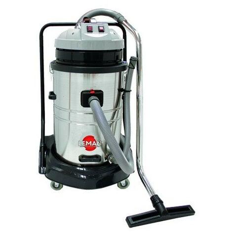 Leman - Aspirateur Inox eau et poussières 70L 1250W + Accessoires - ASP701