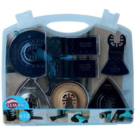 LEMAN Coffret 12 accessoires pour outils oscillants - 4500.12