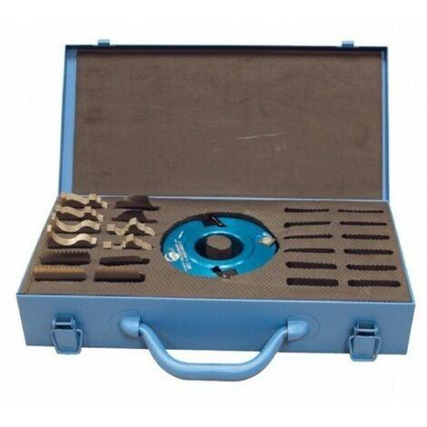 Leman - Coffret porte-outils à profiler 6 paires de fers ht 50 mm alesage 50 mm