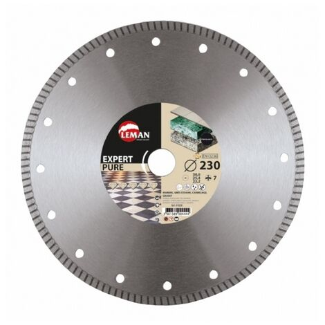 Leman - Disco de diamante de llanta continua de gres porcelánico D. 180x 30/25,4/22,23x1,4mm