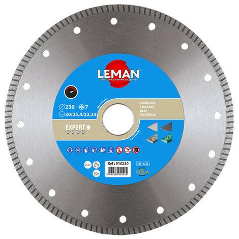 Leman - Disco de diamante de llanta continua de gres porcelánico D. 230x30/22,23x1,6mm