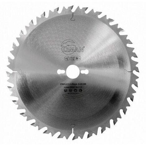 """main image of """"Leman - Hoja de sierra circular de 300x30 mm 24 dientes con dispositivo anti-retroceso para cortar madera"""""""