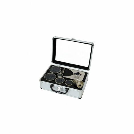 Leman - Juego de 10 brocas de diamante D.6 a 67 + Guía - amoladoras de azulejos - 4071