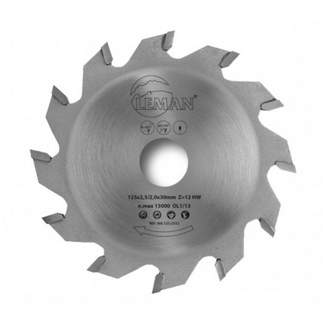 Leman - Lame de scie circulaire à rainer 125x2,2/1,4x30 mm 12 dents