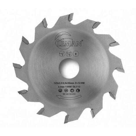 Leman - Lame de scie circulaire à rainer 125x3,0/2,2x30 mm 12 dents