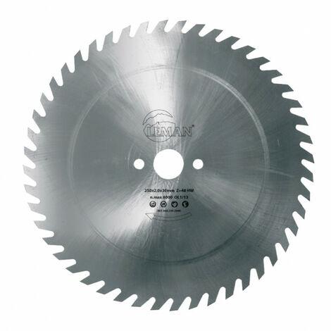 Leman - Lame de scie circulaire en acier 500x2.5x30 56 dentures crochets - 966.500.2556