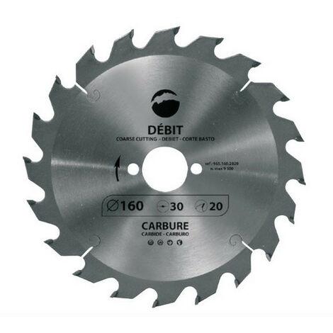 Leman - Lame de scie circulaire pour machines portatives D.160 x Al.30 mm 20 dents