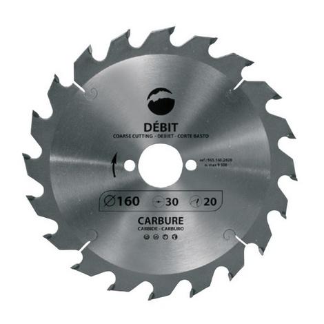 Leman - Lame de scie circulaire pour machines portatives D.180 x Al.16 mm 20 dents