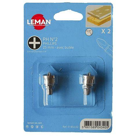 Lot de 2 embouts avec butée pour plâtre - 51902.02 - Leman - -